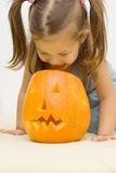 Making halloween latern royalty free stock images