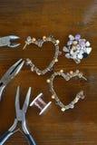 Making handicraft  jewelry Royalty Free Stock Photo