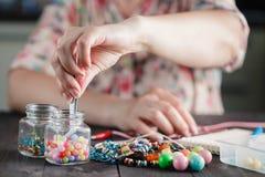 Making of handmade jewellery Stock Image