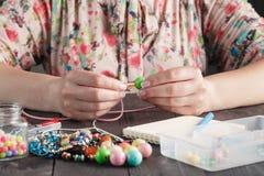 Making of handmade jewellery Royalty Free Stock Image