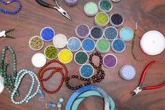 Making of handmade jewellery. Stock Photos