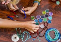 Making of handmade jewellery. Stock Photography