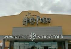 Making of harry Potter entrance. LEAVESDEN, UK - JUNE 23RD 2012: The main entrance to the Making of Harry Potter tour at Warner Bros studio in Leavesden, UK stock photos