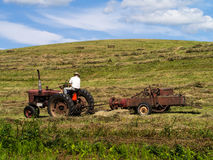 Making hay while the sun shines Stock Images