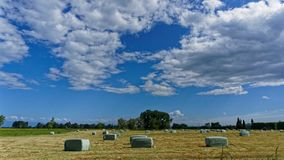 Making hay while the sun shines royalty free stock image