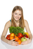 Making healthy diet choices Royalty Free Stock Photos
