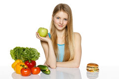 Making healthy diet choices Royalty Free Stock Photo