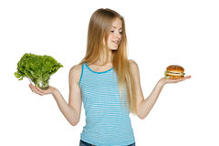 Making healthy diet choices Stock Photos
