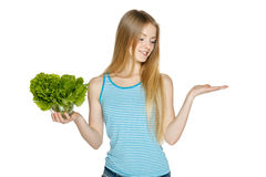 Making healthy diet choices Royalty Free Stock Photography