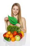 Making healthy organic vegetables choices Stock Images