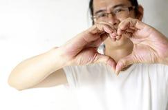 Making heart shape Stock Image