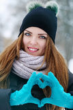 making a heart shape Stock Photography