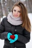 making a heart shape Stock Photo