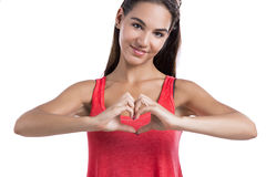 Making  a heart symbol with hands Stock Photography