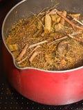 Making herbal medicine. Royalty Free Stock Image