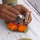 Making of a Hindu Diya Stock Photography