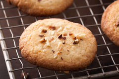 Making homemade almond cookies Stock Photo