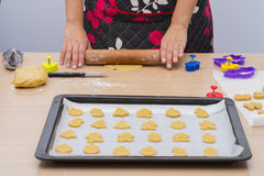 Making homemade cookies. Stock Photography