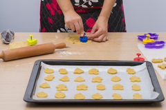 Making homemade cookies. Royalty Free Stock Image