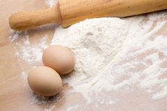 Making homemade dough Royalty Free Stock Photography