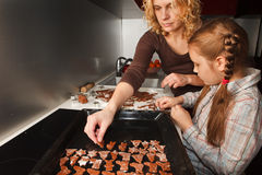 Making homemade gingerbread for christmas Royalty Free Stock Photography