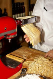 Making Homemade Pasta Stock Photography