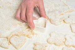 Making homemade sugar cookies Stock Photos