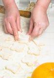 Making homemade sugar cookies Royalty Free Stock Photo