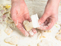 Making homemade sugar cookies Stock Image