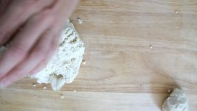Making Homemade Tortillas stock footage