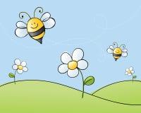 Making Honey vector illustration