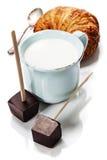 Making hot chocolate Stock Photo