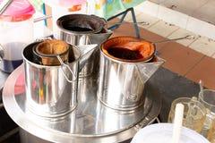 Making hot drinks. stock image