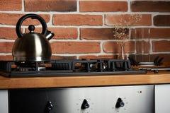 Making hot tea theme stock photo