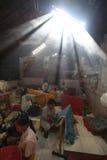 Making Indonesian traditional Batik Tulis Stock Image