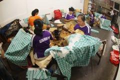 Making Indonesian traditional Batik Tulis Royalty Free Stock Image