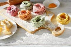 Making italian pasta Royalty Free Stock Photos
