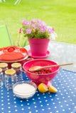 Making jam from fresh fruit Royalty Free Stock Images