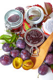 Making jams from the plums Stock Photography