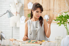 Making jewelry royalty free stock image