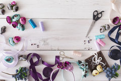 Making jewelry, home workshop, hobby Stock Images