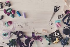 Making jewelry, home workshop, hobby Royalty Free Stock Photos