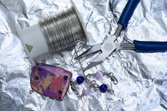 Making jewelry Stock Photography