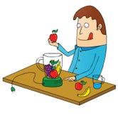 Making juice. Illustration of a man making juice Royalty Free Stock Photos