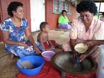 Making kava stock image