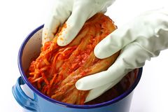 Making kimchi, korean food Royalty Free Stock Photo