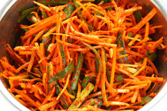 Making kimchi process Stock Image