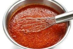 Making kimchi process Stock Images