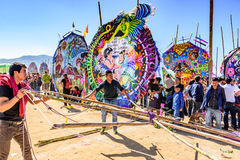 Making kite, Giant kite festival, All Saints' Day, Guatemala Royalty Free Stock Photography