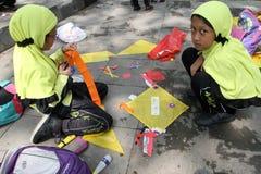 Making kites Stock Photo